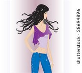 fashion model on catwalk | Shutterstock .eps vector #28694896