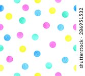 Vector Watercolor Dots Pattern...