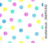 vector watercolor dots pattern... | Shutterstock .eps vector #286951532