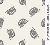 rope doodle seamless pattern... | Shutterstock .eps vector #286952606
