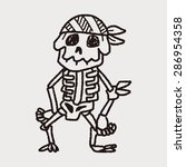 skull doodle | Shutterstock .eps vector #286954358