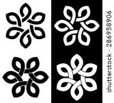 6 point celtic knot vector... | Shutterstock .eps vector #286958906