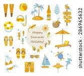 happy summer holiday  | Shutterstock .eps vector #286965632