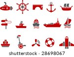vector icons pack   red series  ... | Shutterstock .eps vector #28698067