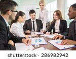 group of business people... | Shutterstock . vector #286982942