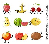 fresh fruit apple cherry... | Shutterstock .eps vector #286984682