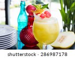 refreshing glass of bright... | Shutterstock . vector #286987178