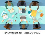 business people workplace top... | Shutterstock .eps vector #286994432