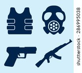 war icons | Shutterstock .eps vector #286995038