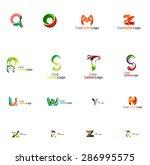 set of new universal company... | Shutterstock .eps vector #286995575