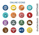 online long shadow icons  flat...   Shutterstock .eps vector #286995668