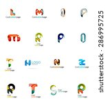 set of new universal company... | Shutterstock .eps vector #286995725