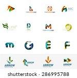 set of new universal company... | Shutterstock .eps vector #286995788