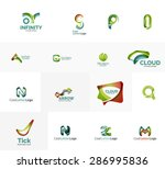 set of new universal company... | Shutterstock .eps vector #286995836