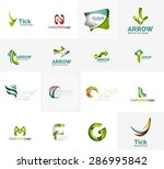 set of new universal company... | Shutterstock .eps vector #286995842