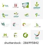 set of new universal company... | Shutterstock .eps vector #286995842