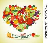 heart made of different... | Shutterstock .eps vector #286997762