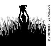 cheering crowd | Shutterstock .eps vector #287001008