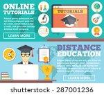 online tutorials  distance... | Shutterstock .eps vector #287001236