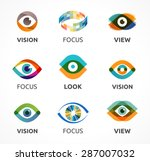set of colorful eye icons  | Shutterstock .eps vector #287007032