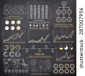 big set of business... | Shutterstock .eps vector #287007956