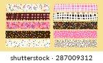 donut topping masking tape set | Shutterstock .eps vector #287009312