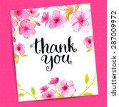 Thank You Card With Modern...