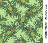 seamless tropical pattern with... | Shutterstock .eps vector #287027966