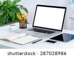 laptop mockup with tablet... | Shutterstock . vector #287028986