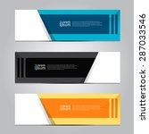vector design banner business ... | Shutterstock .eps vector #287033546