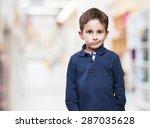 Sad Little Kid Over White