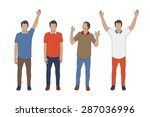 hands up man vector eps10 | Shutterstock .eps vector #287036996