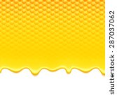 glossy yellow pattern with... | Shutterstock .eps vector #287037062