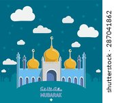 flat vector illustration of... | Shutterstock .eps vector #287041862