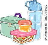 illustration of a carefully... | Shutterstock .eps vector #287045432