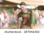 young asian couple shopping and ... | Shutterstock . vector #287046302