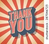 thank you retro speech. vector... | Shutterstock .eps vector #287046725