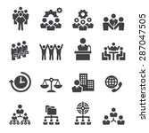 business icon | Shutterstock .eps vector #287047505