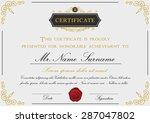 elegant certificate template... | Shutterstock .eps vector #287047802