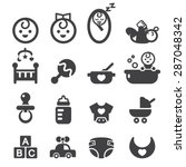 baby icon set | Shutterstock .eps vector #287048342
