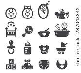 baby icon set | Shutterstock .eps vector #287048342
