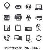 communication icon | Shutterstock .eps vector #287048372