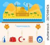 turkey travel icons or logo set ... | Shutterstock .eps vector #287048426