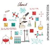 chemistry scientist vector... | Shutterstock .eps vector #287051036