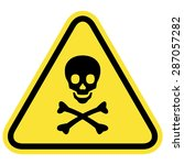 skull and bones warning sign | Shutterstock .eps vector #287057282