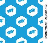 blue image of burning envelope... | Shutterstock . vector #287086712