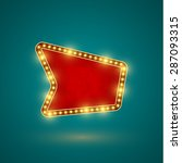 retro sign with realistic lamps   Shutterstock .eps vector #287093315