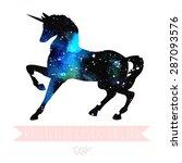 illustration of cosmic... | Shutterstock .eps vector #287093576