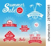 set of summer sale promotion... | Shutterstock .eps vector #287095385