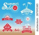 set of summer sale promotion...   Shutterstock .eps vector #287095385